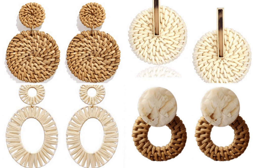 Various rattan earrings from Amazon