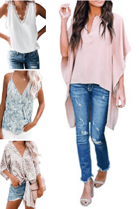 four womens tops from amazon