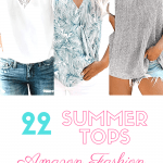 3 women in summer tops with text reading 22 summer tops amazon fashion
