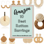Various rattan earrings with text reading Amazon 10 Best Rattan Earrings