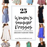 Various women's summer dresses with text reading 25 Women's summer dresses amazingly affordable amazon fashion finds