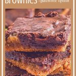 close up of homemade peanut butter cup brownies